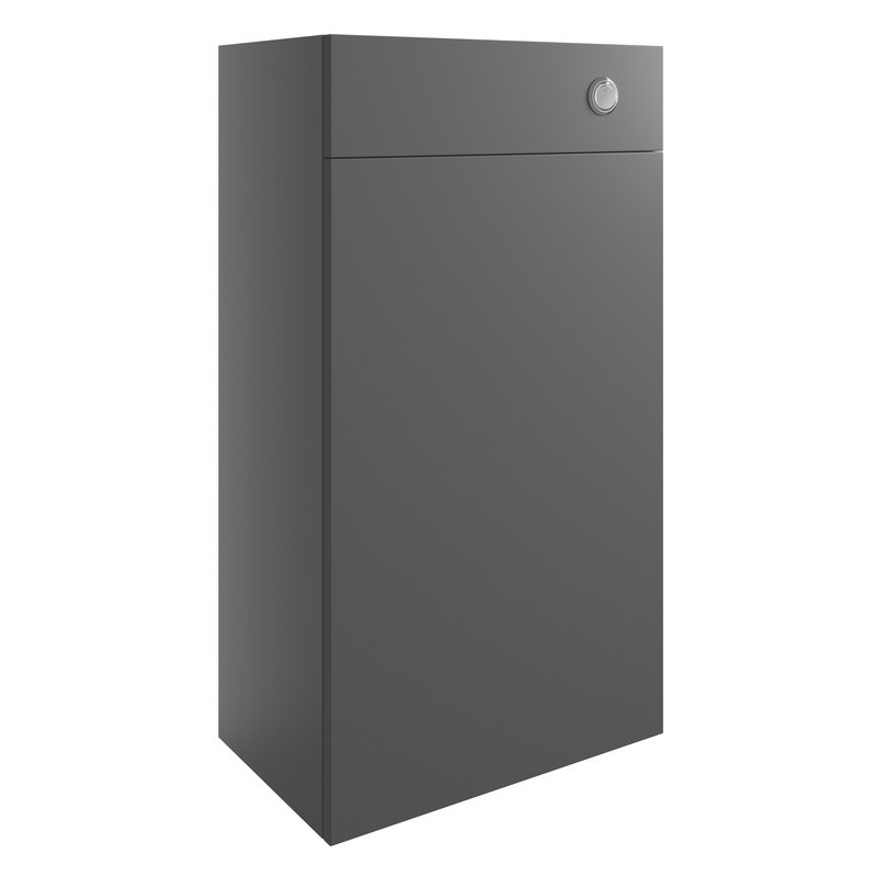 Bathrooms To Love Valesso 500mm WC Unit Onyx Grey Gloss