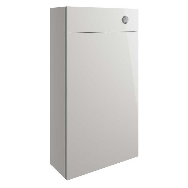 Bathrooms To Love Valesso 500mm Slim WC Unit Pearl Grey Gloss