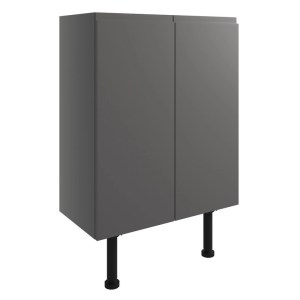 Bathrooms To Love Valesso 600mm Base Unit Onyx Grey Gloss