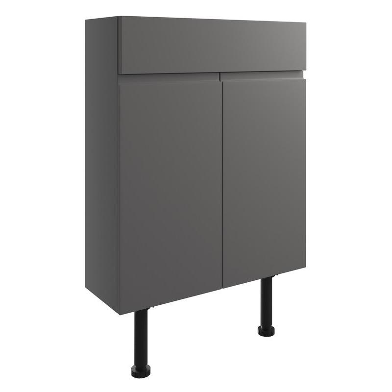 Bathrooms To Love Valesso 600mm Slim Vanity Unit Onyx Grey Gloss