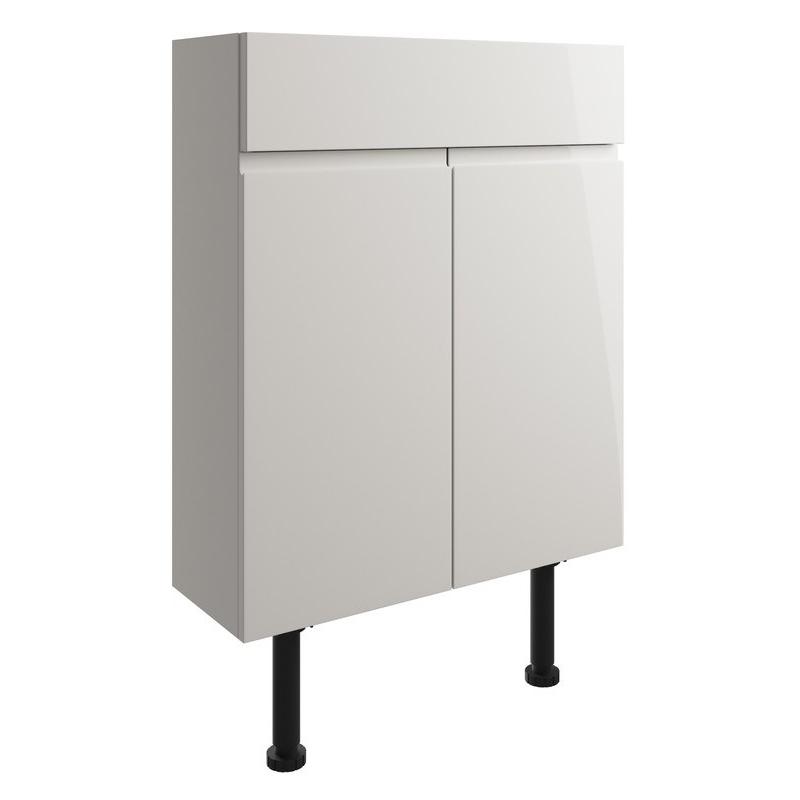 Bathrooms To Love Valesso 600mm Slim Vanity Unit Pearl Grey Gloss