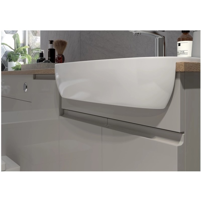 Bathrooms To Love Valesso 600mm Slim WC Unit Pearl Grey Gloss