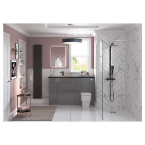 Bathrooms To Love Valesso 900x330mm Base End Panel Onyx Grey