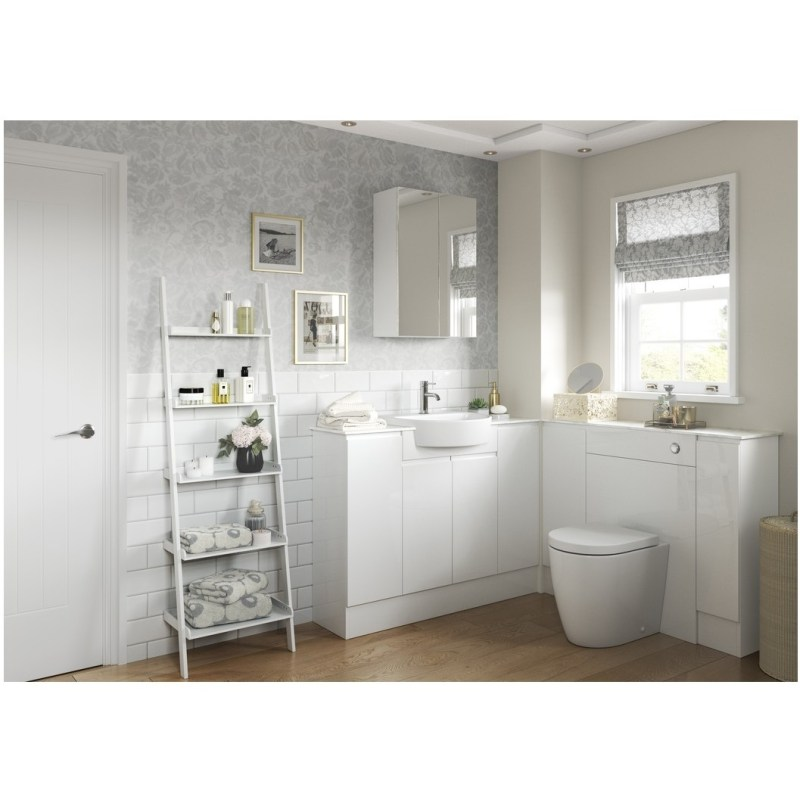 Bathrooms To Love Valesso 600mm Mirrored Unit White Gloss