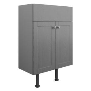 Bathrooms To Love Benita 600mm 2 Door Vanity Unit Grey Ash