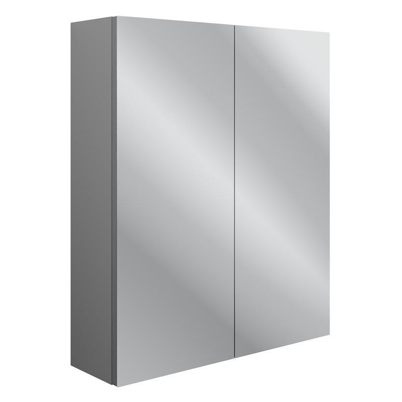 Bathrooms To Love Benita 600mm 2 Door Mirrored Wall Unit Grey Ash