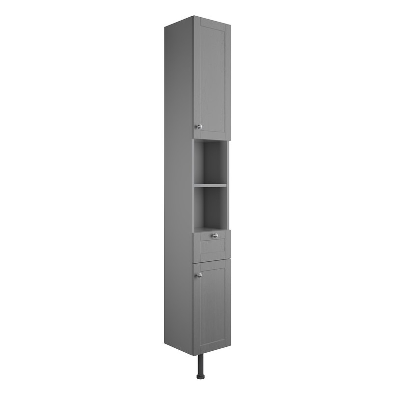 Bathrooms To Love Benita 300mm 2 Door Tall Unit Grey Ash