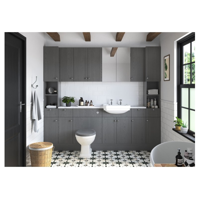 Bathrooms To Love Benita 2400mm Plinth Grey Ash