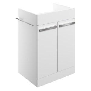 Bathrooms To Love Morina 600mm Floor Vanity Unit White Gloss