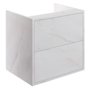 Bathrooms To Love Perla 600mm 2 Drawer Wall Vanity Unit Marble