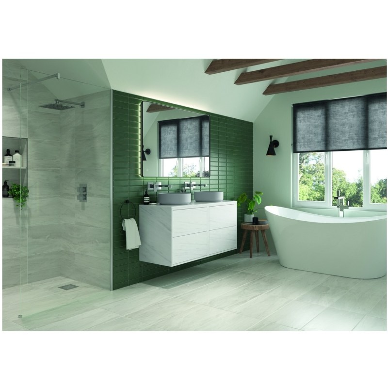 Bathrooms To Love Perla 900mm 2 Drawer Wall Vanity Unit Marble