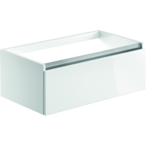 Bathrooms To Love Carino 800mm 1 Drawer Wall Unit Gloss White