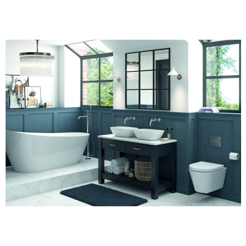 Bathrooms To Love Manhattan Carrara 1220x508x19mm Worktop