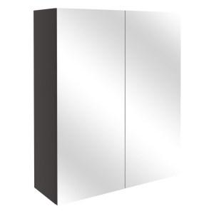 Bathrooms To Love Alba 600mm Mirrored Wall Unit Matt Grey
