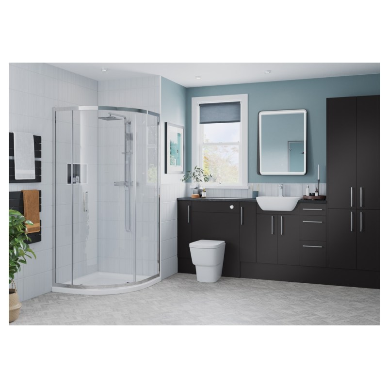 Bathrooms To Love Alba 330x2200mm Tall End Panel Matt Grey