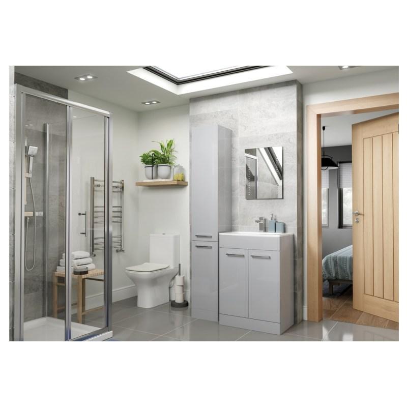 Bathrooms To Love Volta 350mm Floor Standing Tall Unit Grey