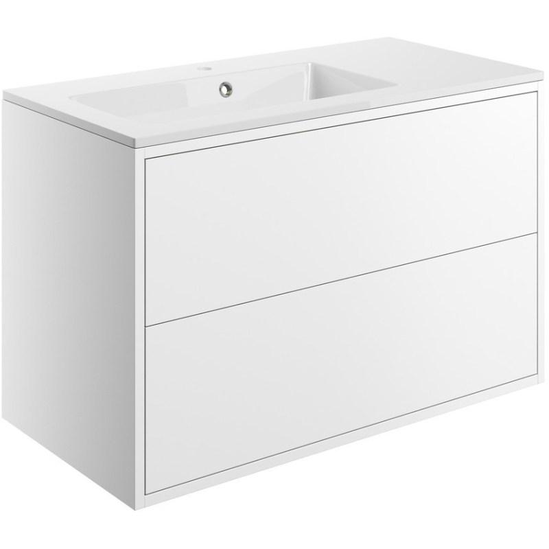 Bathrooms To Love Perla 900mm Wall Vanity Unit & Basin Matt White