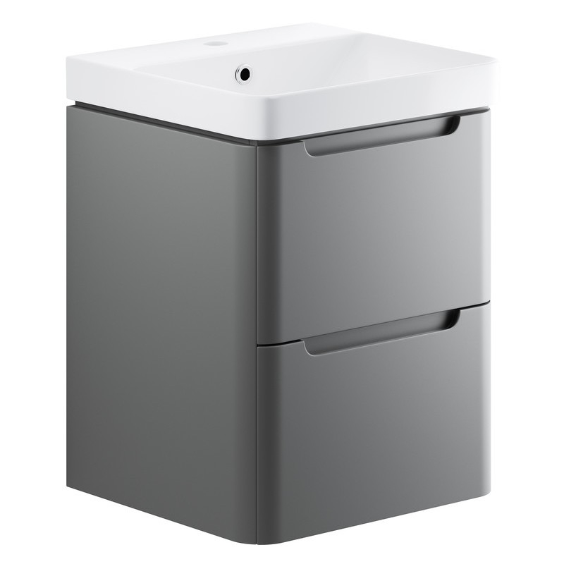 Bathrooms To Love Lambra 500mm Wall Cloakroom Unit Pack Matt Grey