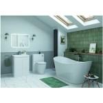 Bathrooms To Love Lambra 600mm Floor Unit & Basin White Gloss