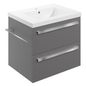 Bathrooms To Love Morina 615mm Wall Unit & Basin Matt Urban Grey
