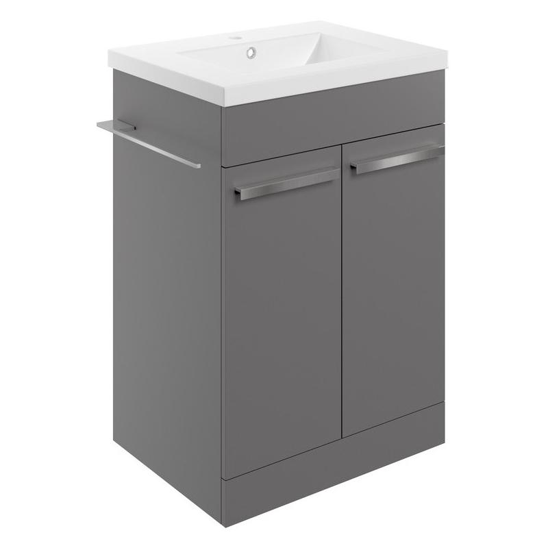 Bathrooms To Love Morina 615mm Floor Unit & Basin Matt Urban Grey