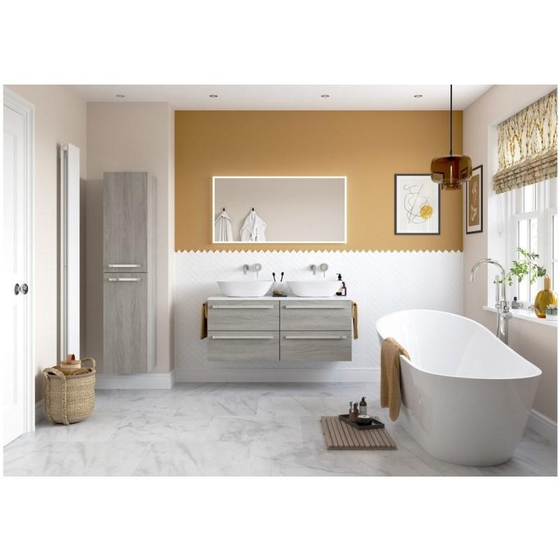 Bathrooms To Love Morina 1200mm Wall Hung Vanity Unit Run Elm Grey