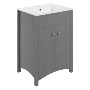 Bathrooms To Love Lucia 610mm Vanity Unit & Basin Grey Ash