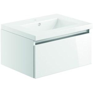 Bathrooms To Love Carino 600mm Wall Unit & Basin White Gloss
