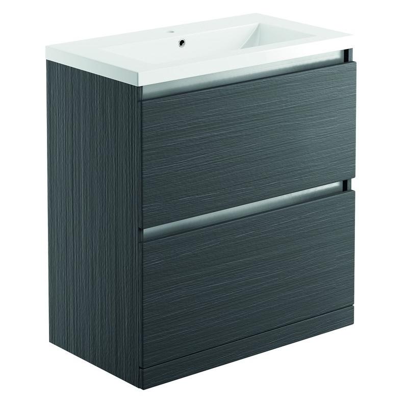 Bathrooms To Love Carino 800mm Floor Unit & Basin Graphitewood