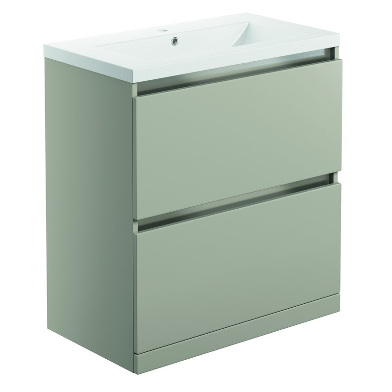 Bathrooms To Love Carino 800mm Floor Vanity Unit & Basin Latte