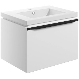 Bathrooms To Love Framework 600mm Wall Unit & Basin Matt White