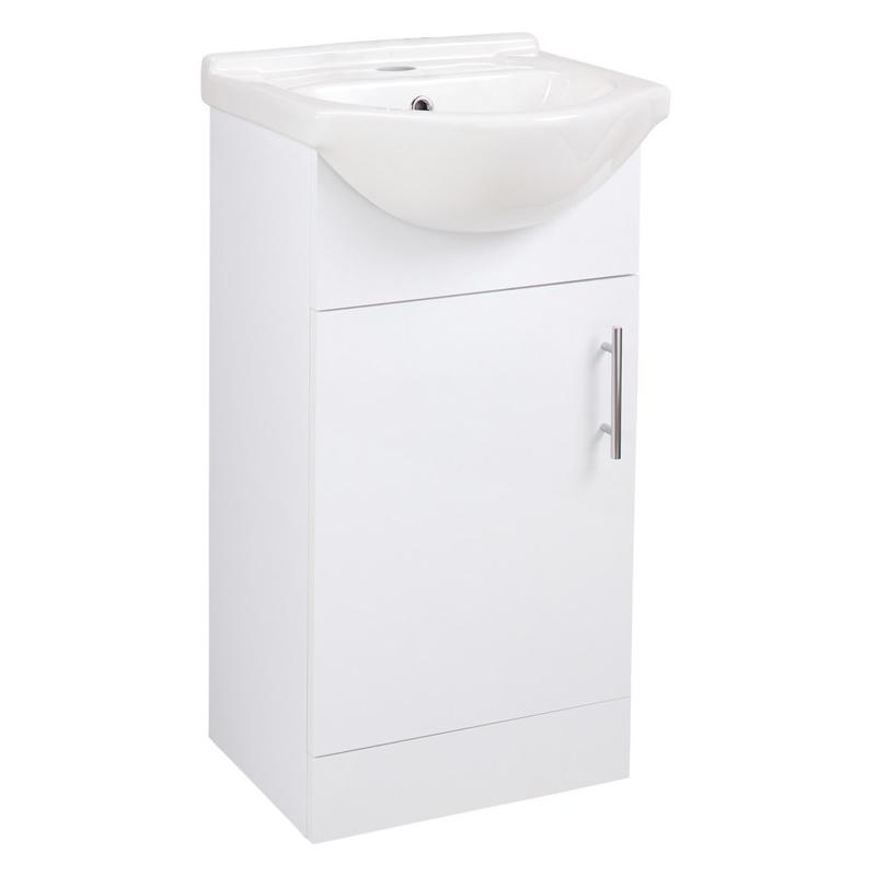 Bathrooms To Love Vista 450mm Unit & Basin White Gloss