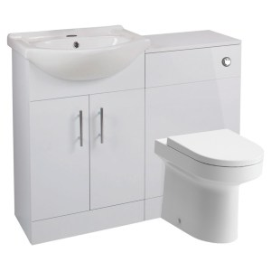 Bathrooms To Love Vista 650mm Basin & WC Unit Pack White