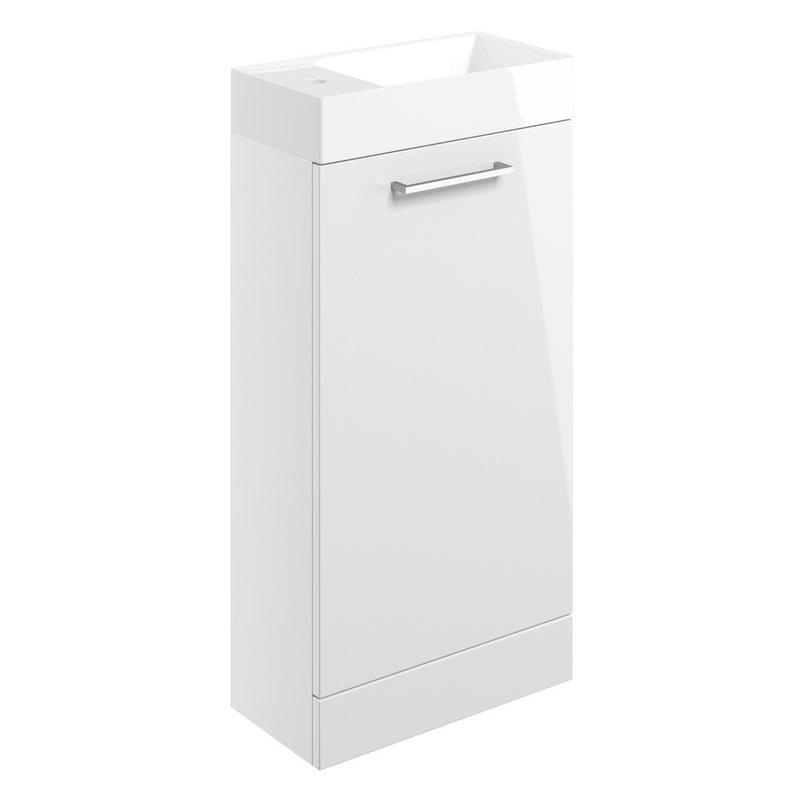 Bathrooms To Love Volta 410mm Floor Standing Unit & Basin White