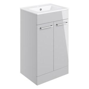 Bathrooms To Love Volta 510mm Floor Unit & Basin Grey Gloss