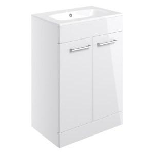 Bathrooms To Love Volta 610mm Floor Standing Unit & Basin White