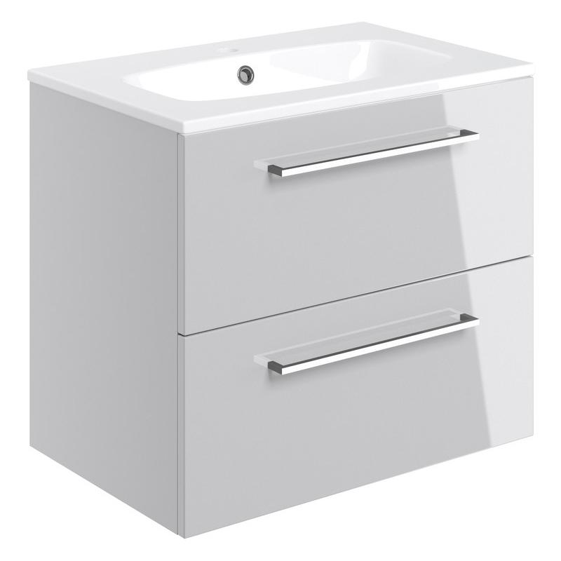 Bathrooms To Love Volta 610mm Wall Unit & Basin Grey Gloss
