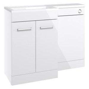 Bathrooms To Love Venosa 1100mm Floorstanding LH L-Shape Pack White
