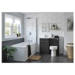 Bathrooms To Love Venosa 1100mm Floor L-Shape Pack LH Anthracite