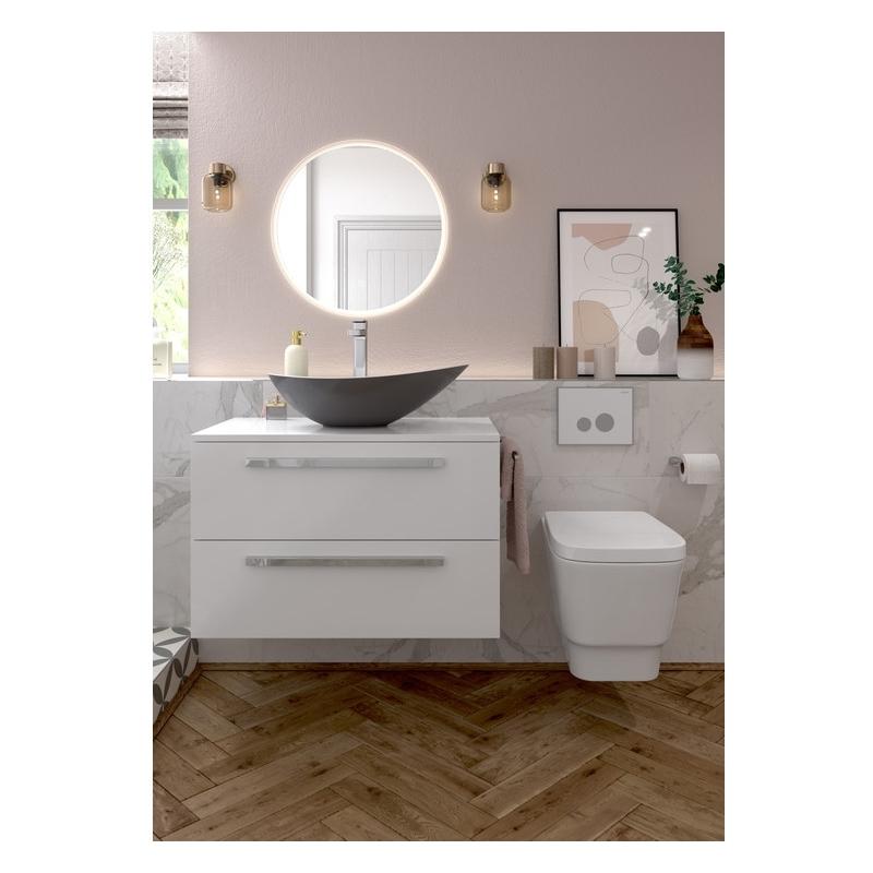 Bathrooms To Love Morina 800mm Laminate Worktop White Gloss