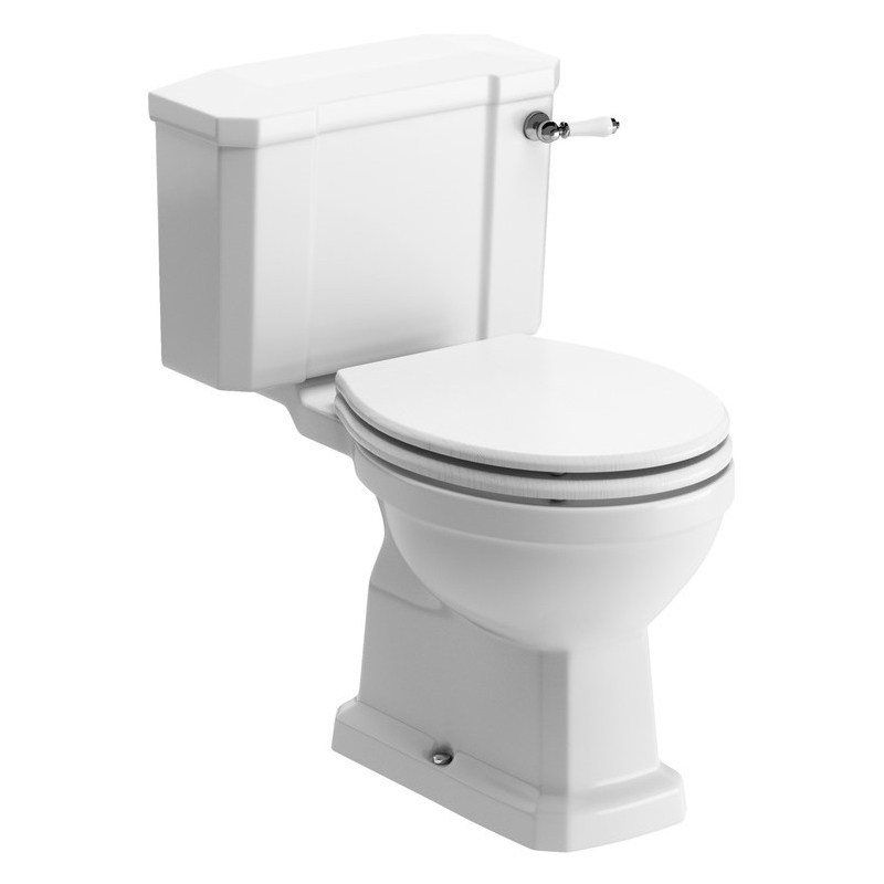 Bathrooms To Love Sherbourne Close Coupled WC & Satin White Seat
