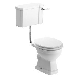 Bathrooms To Love Sherbourne Low Level WC Pack, Satin White Seat