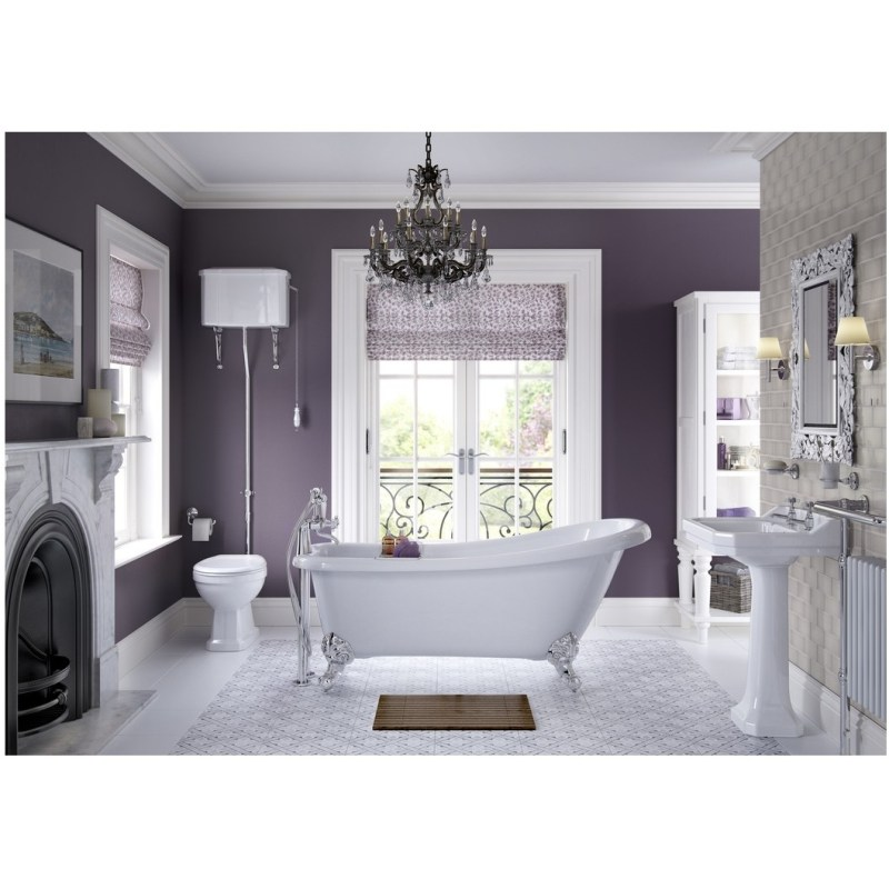 Bathrooms To Love Sherbourne Back To Wall WC & Indigo Seat