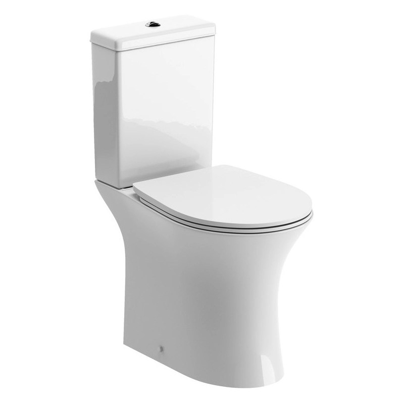 Bathrooms To Love Sandro Rimless Open Back WC & Soft Close Seat
