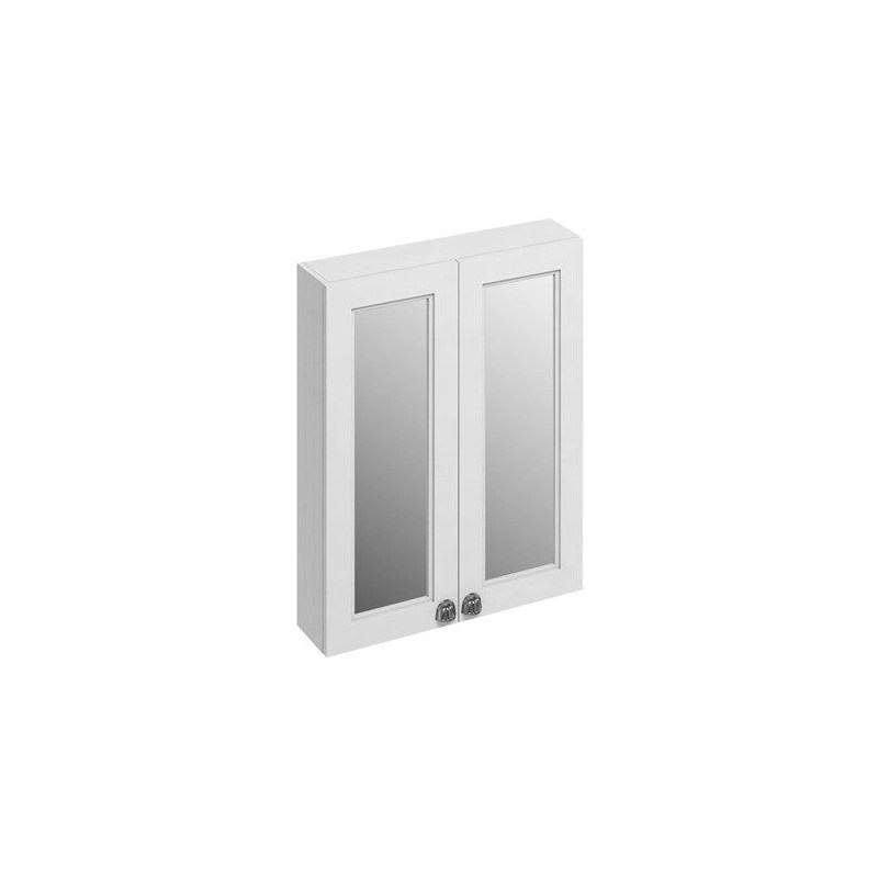 Burlington 60cm Mirrored Double Door Wall Unit Matt White