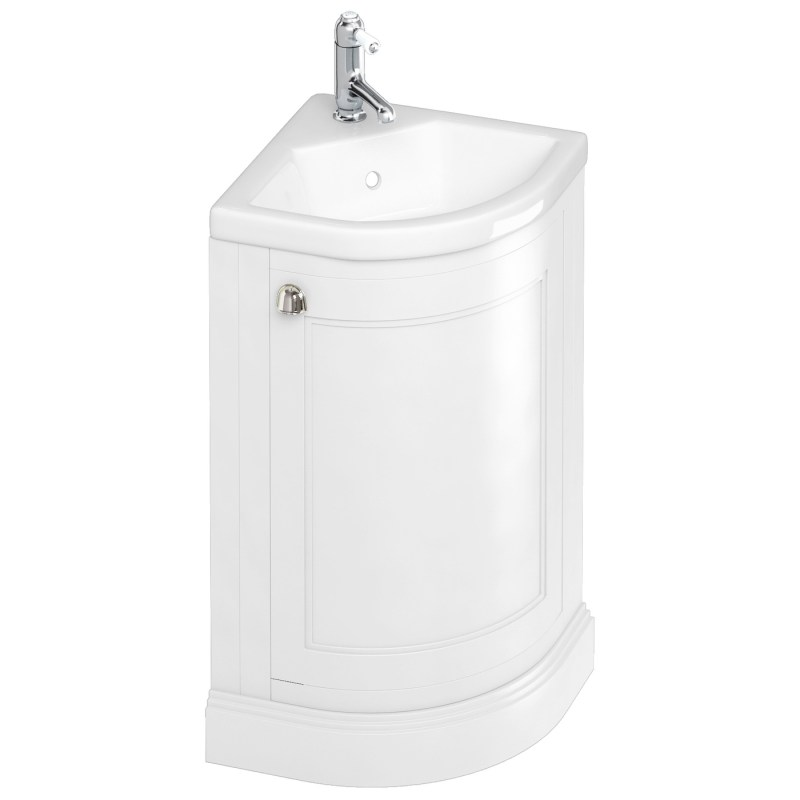 Burlington Freestanding 43cm White Corner Vanity Unit & Basin