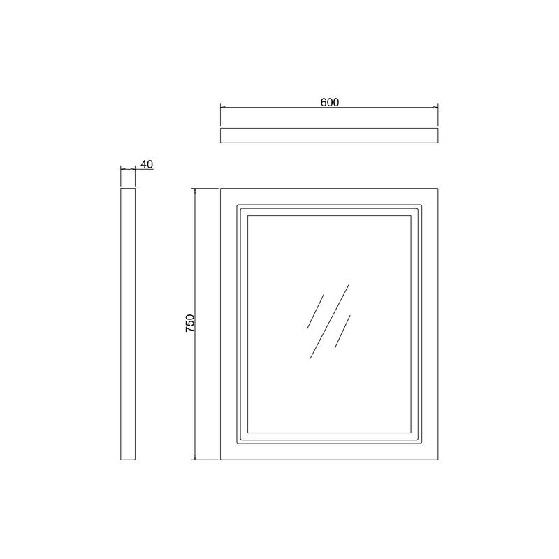 Burlington Framed 60cm LED Mirror Matt White