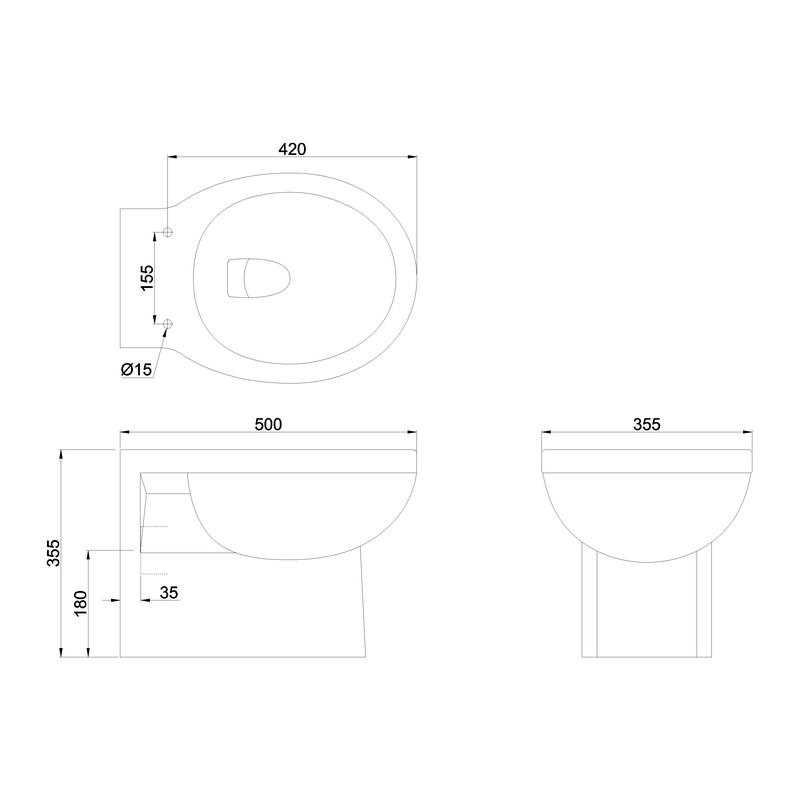 Burlington Wall Hung WC Pan