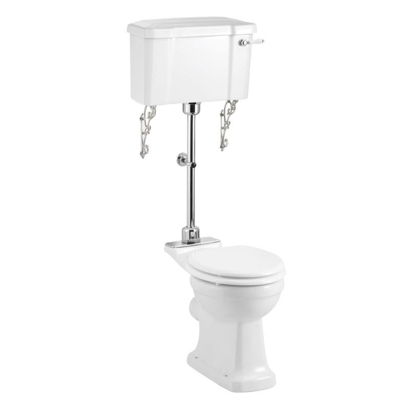 Burlington Standard Medium Level Toilet, 52cm Lever Cistern