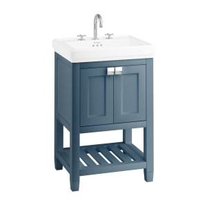 Burlington Riviera 58cm Vanity Unit & Square Basin Blue